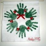 Handprint Wreath: Handprint Wreath, Butter, Christmas Ideas, Preschool, Wreaths