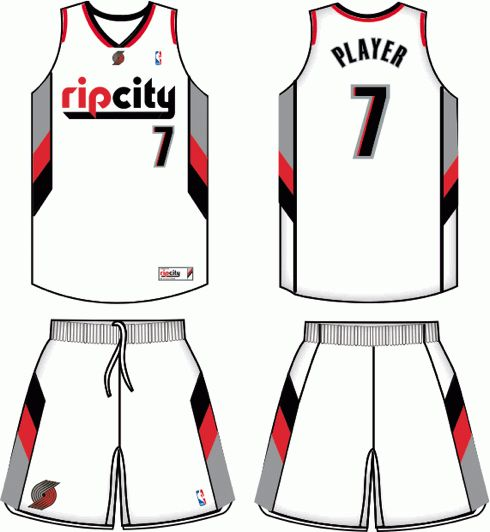 Portland Blazers Logo Vector: Portland Trail Blazers Alternate Uniform 2010- Present