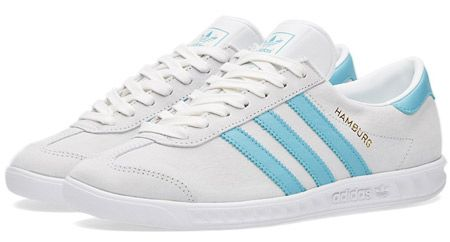 Adidas Hamburg trainers reissued in white suede http://www.95gallery.com/