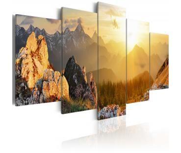 Modernes Wandbild Begrüßung der Sonne
