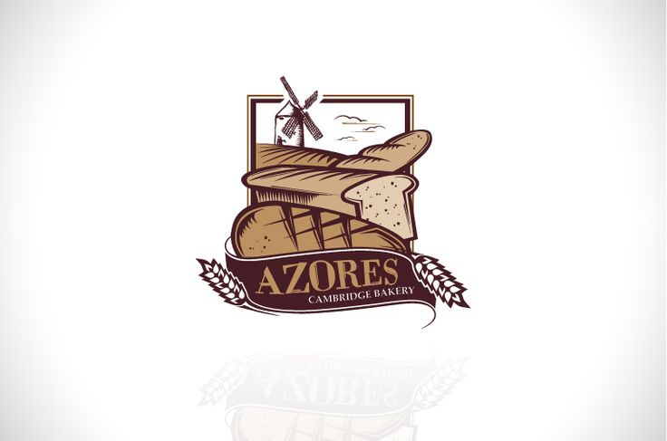 Azores Bakery Cambridge #logo #design #branding #bakery #bread #yum #eats #bake #blonde #identity