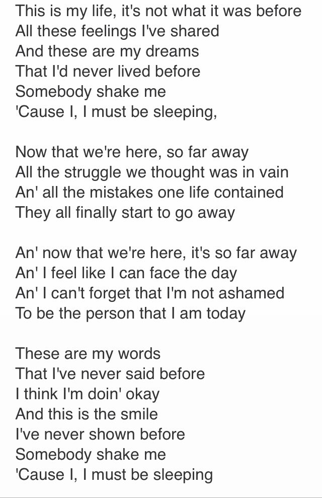 So Far Away - Staind I've always liked this song, but feel such a connection to it now.