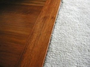 Transitions between carpet to tile or wood flooring