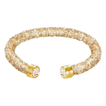 Swarovski Crystaldust Cuff - Golden Crystal - 5255897, Women's