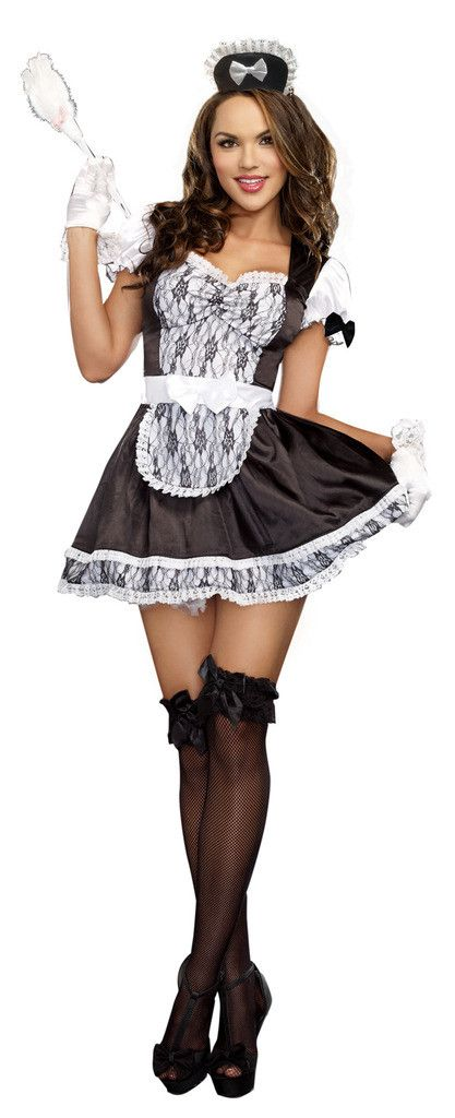 Sexy girl in maid outfit