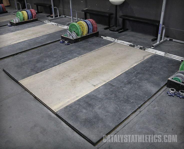 How to build a weightlifting platform: dedicated raised platforms, and flush platforms.