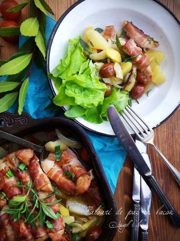 Angel's food: Rulouri de pui in bacon la cuptor