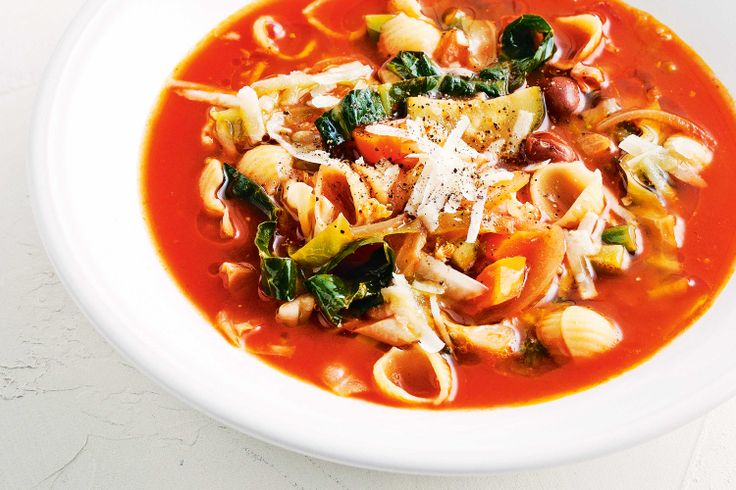 This easy, versatile, low-cal winter #soup is the tastiest way to use up leftover ingredients from the pantry, fridge and crisper.