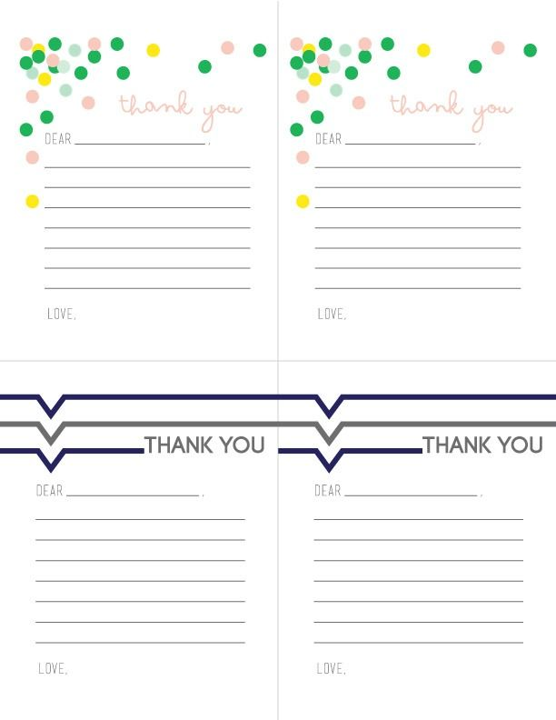 printable note card