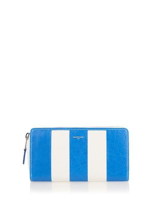 BALENCIAGA Bazar zip-around leather continental wallet. #balenciaga #wallet
