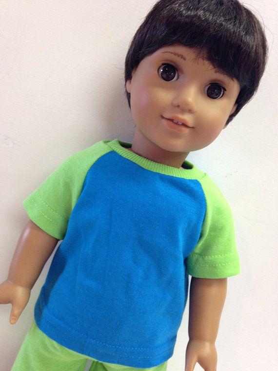 "18/"" Doll Pastel Blue T-Shirt for 18/"" Girl or 18/"" Boy Doll Light Blue T-Shirt"