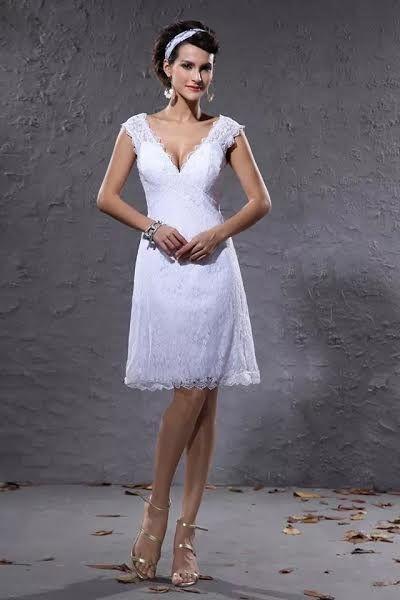 Vestidos de novia cortos: diseños que te enamorarán. ¡Elige el tuyo! Image: 17
