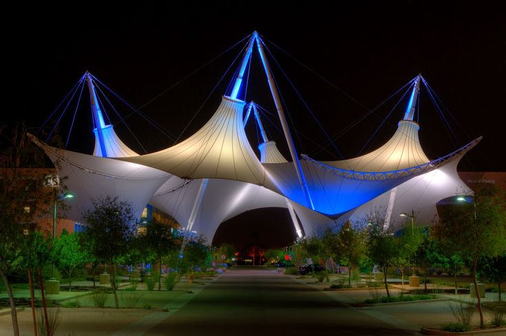 Best Tensile Fabric Shade Structure - BAIT AL NOKHADA: Best Tensile Fabric Shade…