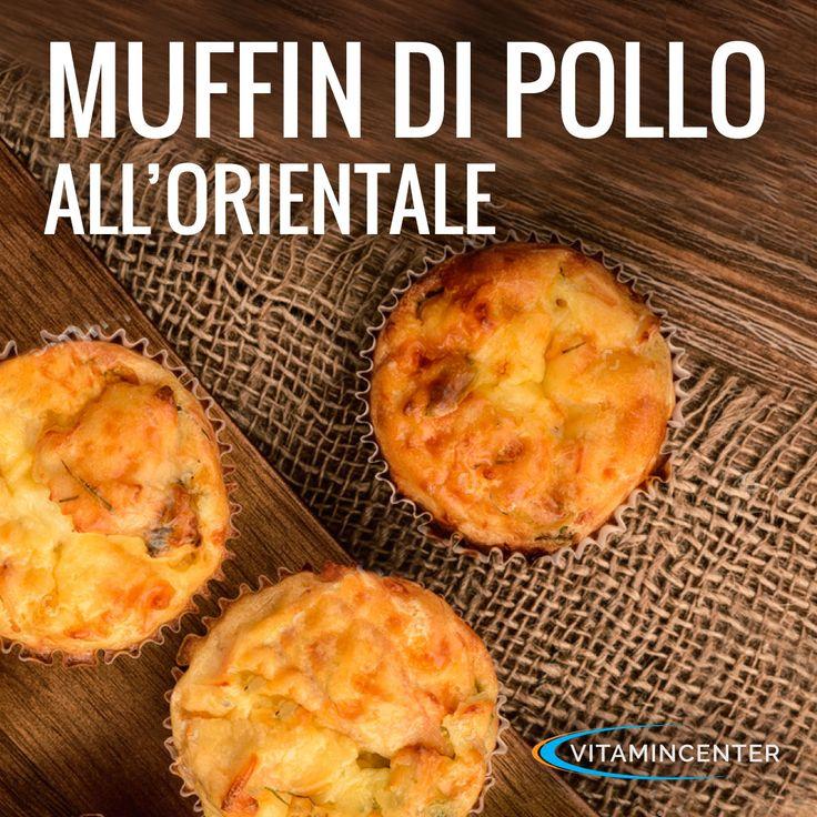 Malati di #muffin? Anche noi! Provateli salati con questi deliziosi bocconcini di #pollo all'orientale! Un'idea per un pranzo sano e veloce (anche in spiaggia o in piscina!)  Vi daranno la giusta carica, senza appesantirvi troppo! Ricetta ed ingredienti sul #VitaminBlog