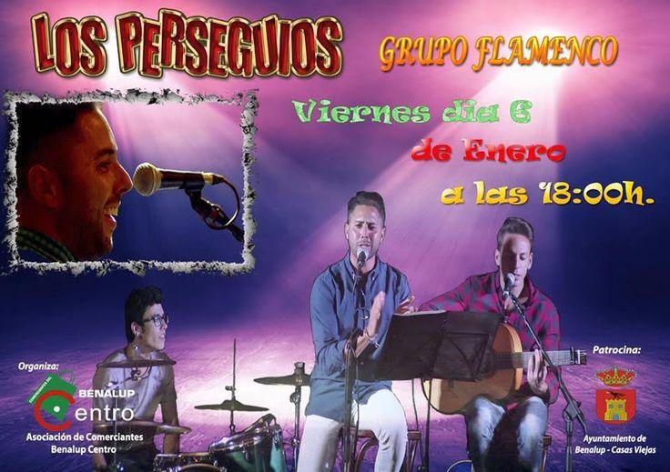 """Cádiz (Benalup-Casas Viejas).- Actuación del grupo flamenco """"Los Perseguíos"""" en la plaza del Pijo el día 6 a las 18:00 horas"""