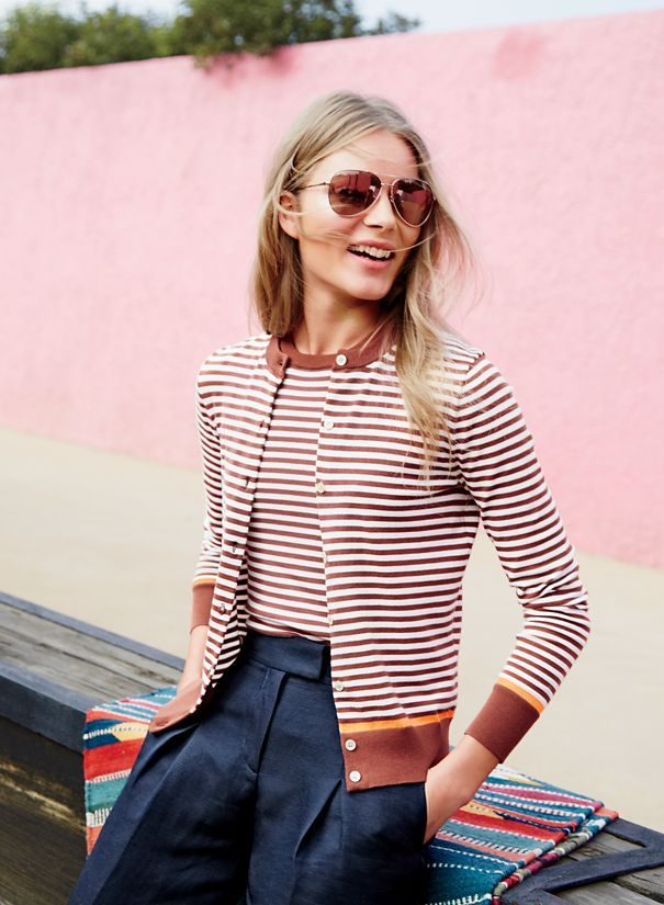 Spring 10: The perfect cropped pant, gold glitter flats, a new take on the twinset—and seven other items to buy right now. The twinset Cardigan + shell = how to look good without even trying.