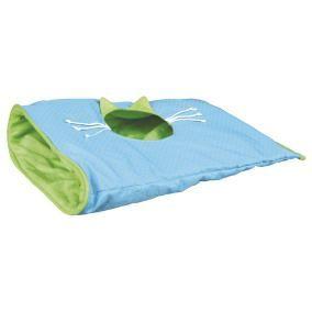 43133 Шуршащий туннель для кошки 50 × 38 см, синий / зеленый