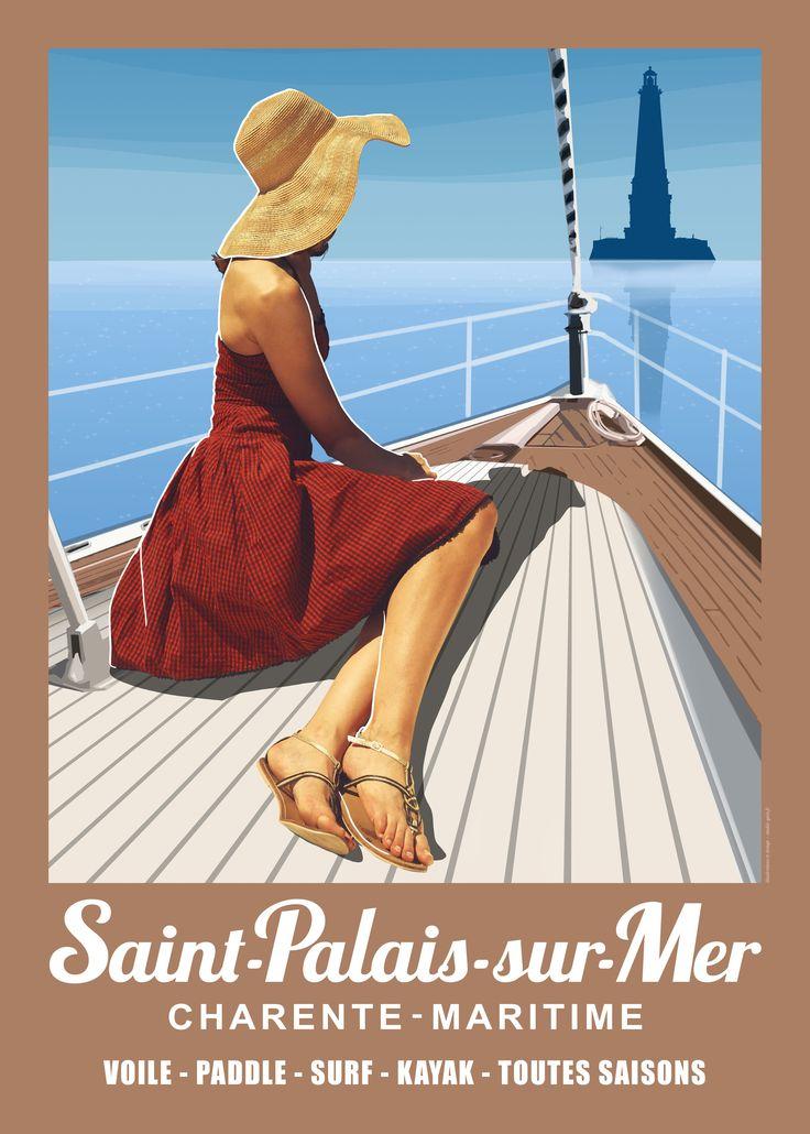 En exclusivité nouvelle collection 2015 Saint-Palais-sur-Mer ! Affiche en vente 6€ - Collection de 4 affiches 20€.