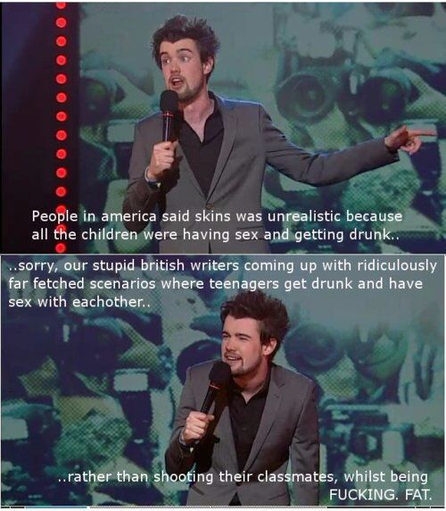jack whitehall talking about skins.