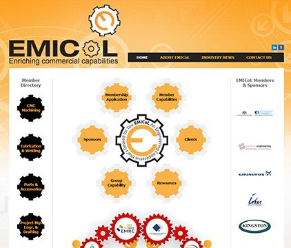 EMICoL represents a cooperative group of companies predominantly made up of small to medium businesses in the manufacturing, engineering, mining and metal fabrication sectors of industry. http://www.emicol.com.au/  Another website by Sushi Digital