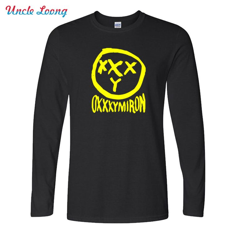 Classic Fashion Mens OXXXYMIRON Print Men T Shirt Funny Russia Rapper Hip Hop Band T-shirt For Man Mens Casual Tops Long Sleeve #Affiliate