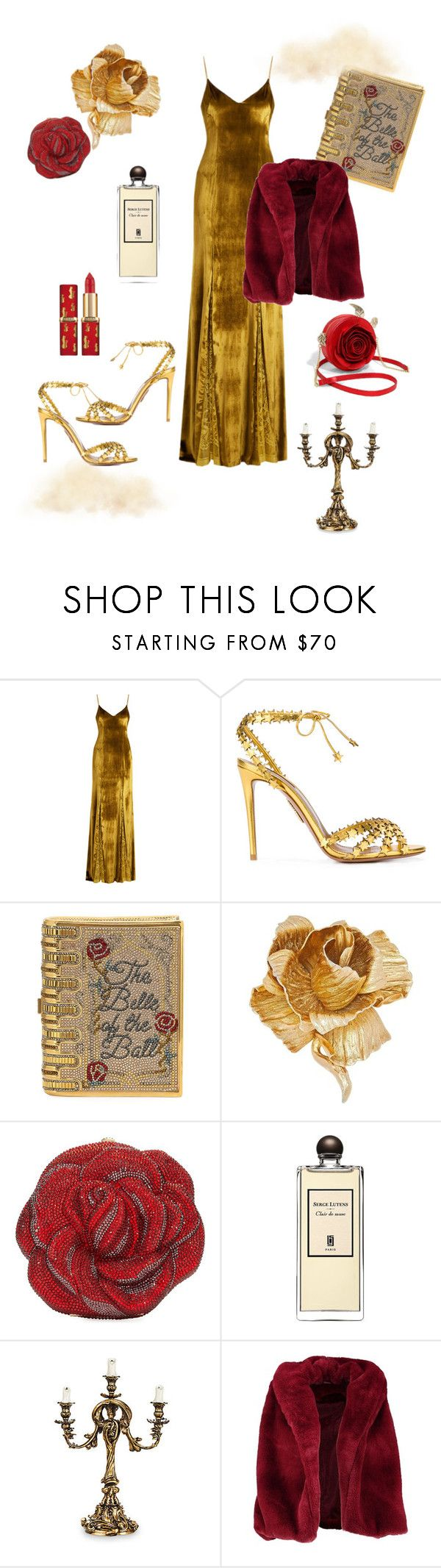 """""""the modern beauty and the beast"""" by margoucha ❤ liked on Polyvore featuring Galvan, Aquazzura, Judith Leiber, Christian Dior, Serge Lutens, Lumière, Boohoo and modern"""