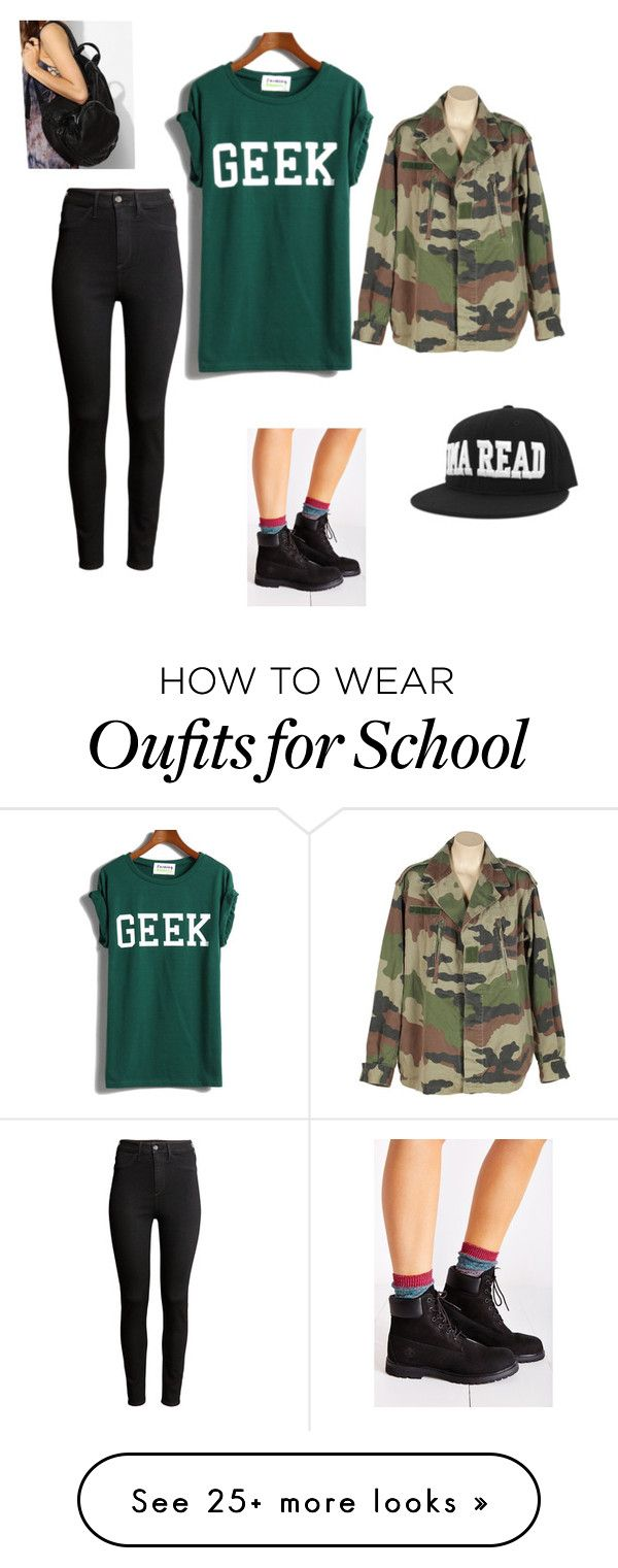 """""""School outfit"""" by visionjohnson on Polyvore featuring H&M, Timberland and Deena & Ozzy"""
