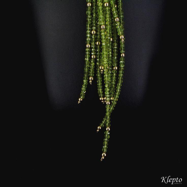 Dettaglio collana Peridoto e oro 18 kt. #kleptogioielli