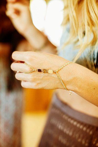 Warrior Wristlet ring to wrist bracelet by sunkissedjems on Etsy, $30.00