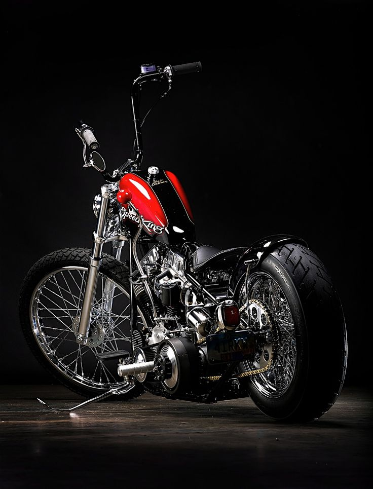 "☼ #motorcycles These photos were taken on April 24, 2011 by Jeff Cochran for his company Speedking. The Panhead chopper Jeff simply calls: ""My 58"" was featured in the July 2011 edition of the Cycle Source magazine."