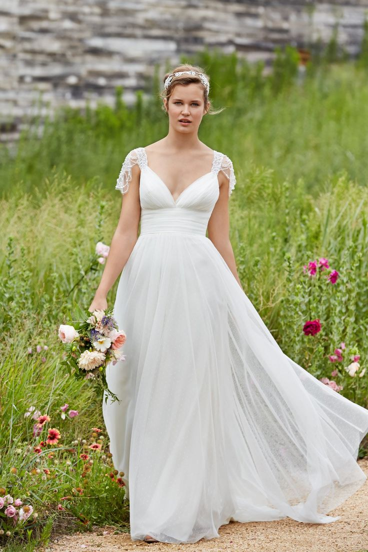 51 best watters images on pinterest wedding dressses wedding 2015 crystal beading cap sleeves wedding dress love it so much ombrellifo Images