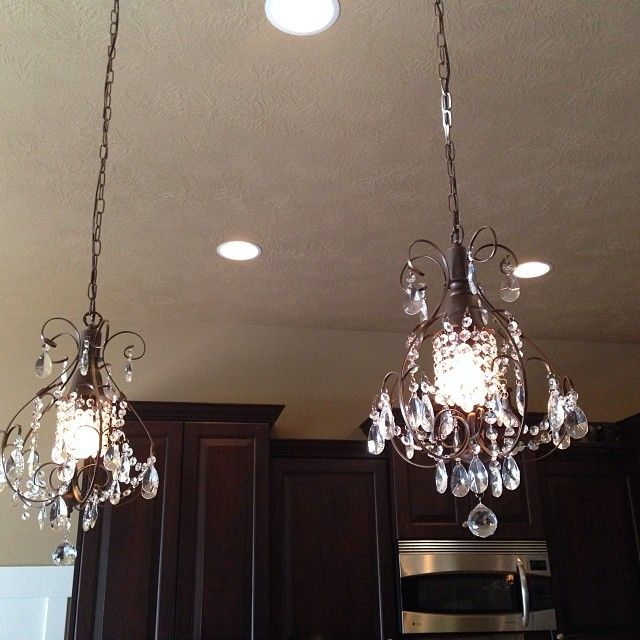 4 Mini Chandeliers Over My Kitchen Island I Am In Love