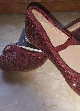 fioletowe brokatowe eleganckie buty dziewczęce dla dziewczynki 27 ZARA
