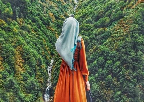 รูปภาพ hijab and nature