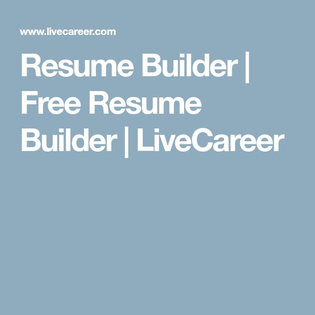 The  Best Free Resume Builder Ideas On   Resume