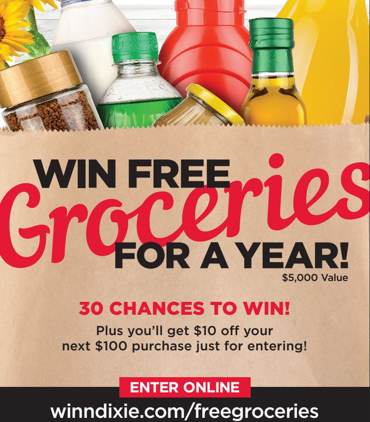 FREE GROCERIES For a YEAR From Winn Dixie – ENTER NOW