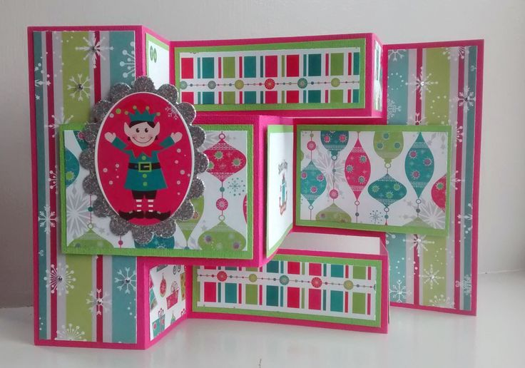 Trifold card using Couture Creation Jolly Christmas paper stack