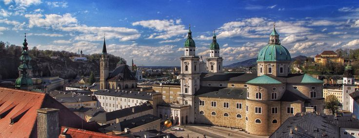 The domes and spires of Salzburg
