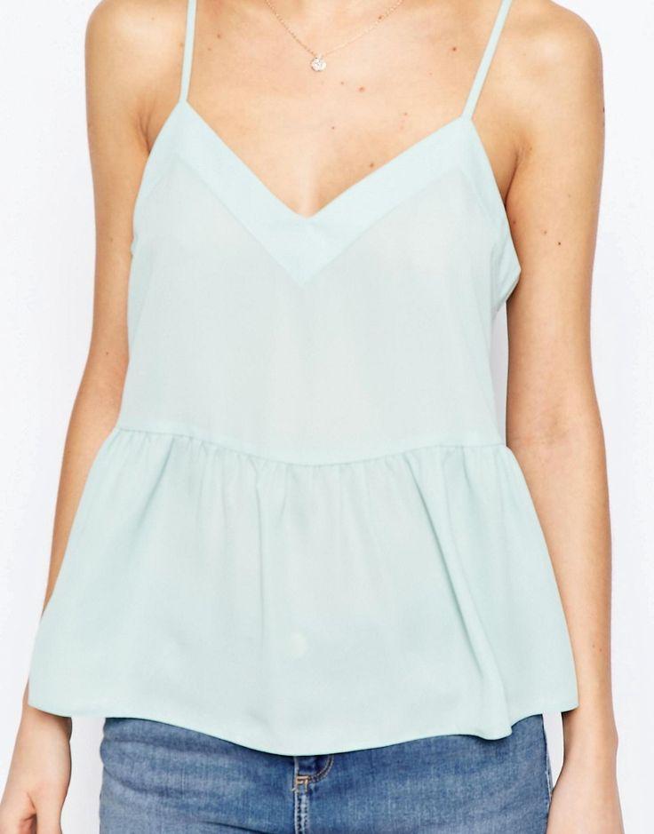 Image 3 ofASOS Soft Gathered Pretty Cami Top