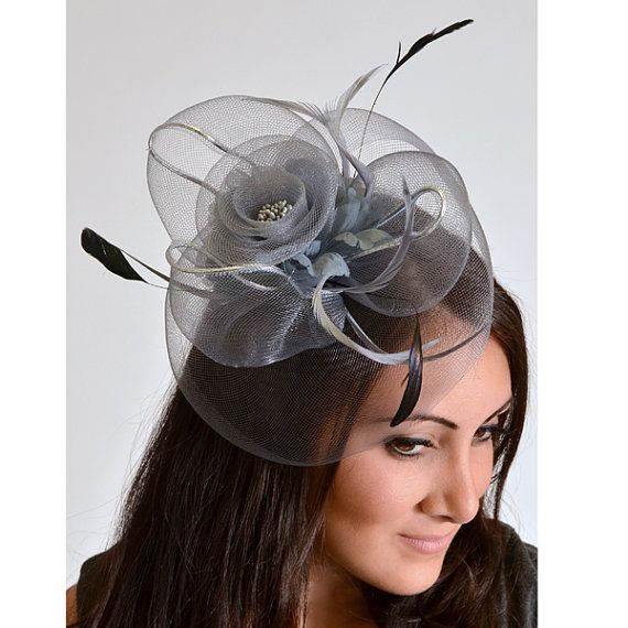Ladies, hats are welcomed at my wedding.  I'm inspired by the royal wedding.  How many of you are too?    Diana Gray  Black or Ivory Mesh Rose Couture English by EyeHeartMe, $45.00