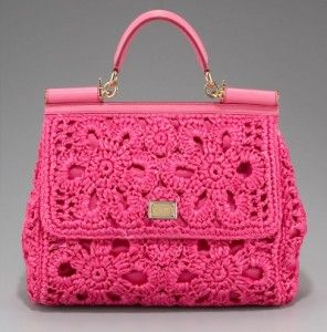 Dolce & Gabbana Miss Sicily Crocheted Handbag crochet purse