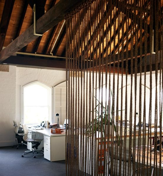 With the use of two wooden dowels and some rope, Sydney-based Alwill Studio created a screen that adds a sense of privacy while allowing plenty of light to shine through.ON REMODELISTA: A DIY Way to Divide a Room