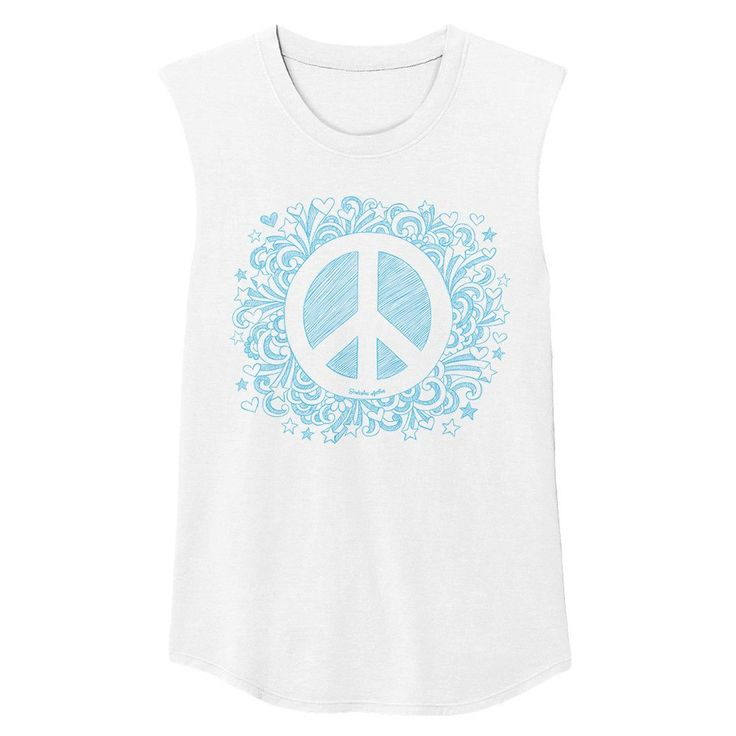 Peaceful Warrior Muscle Tank Blue