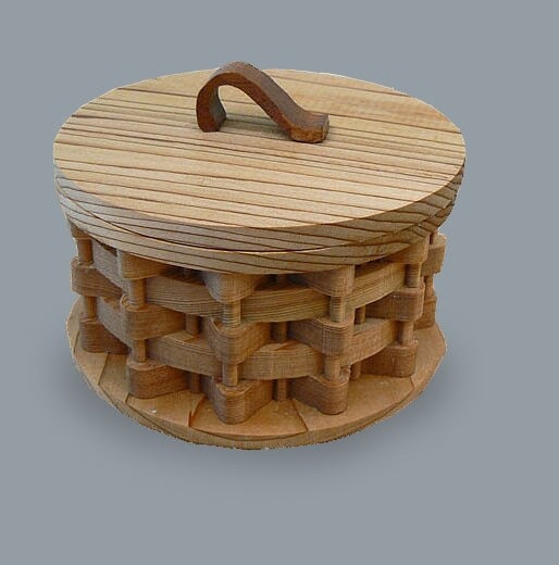 Cedar Basketweave Trinket Box by abby702 on Etsy, $25.50