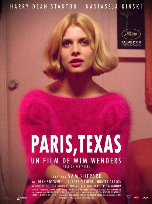 Pôster do filme Paris, Texas. O cinema disposto em todas as suas formas. Análises desde os clássicos até as novidades que permeiam a sétima arte. Críticas de filmes e matérias especiais todos os dias. #filme #filmes #clássico #cinema #ator #atriz