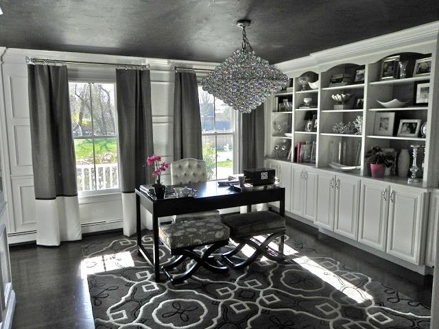 South Shore Decorating Blog: BIG Changes to My House! (Sputnik Nova Chandelier, Black Walls, Black Ceilings....)