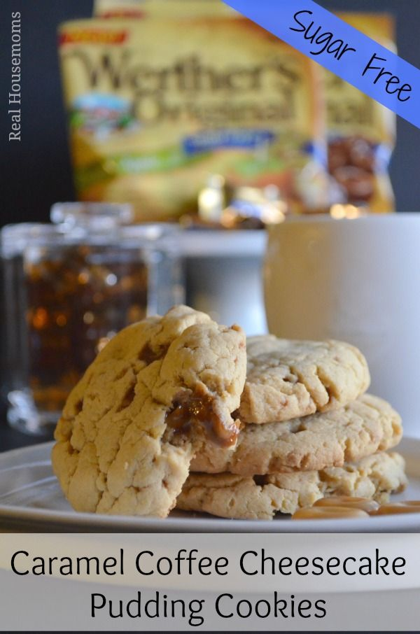 {Sugar Free} Caramel Coffee Cheesecake Pudding Cookies - should be good if I change the Splenda to sugar