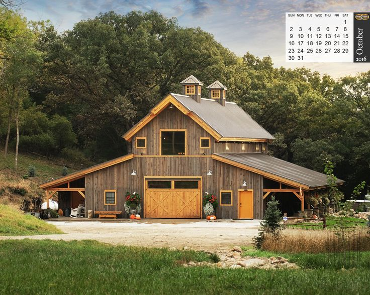 Traditional Wood Barn Projects | Photo Galleries | Ponderosa County, Horse, Gambrel, Combination, & Prairie Carriage Barns
