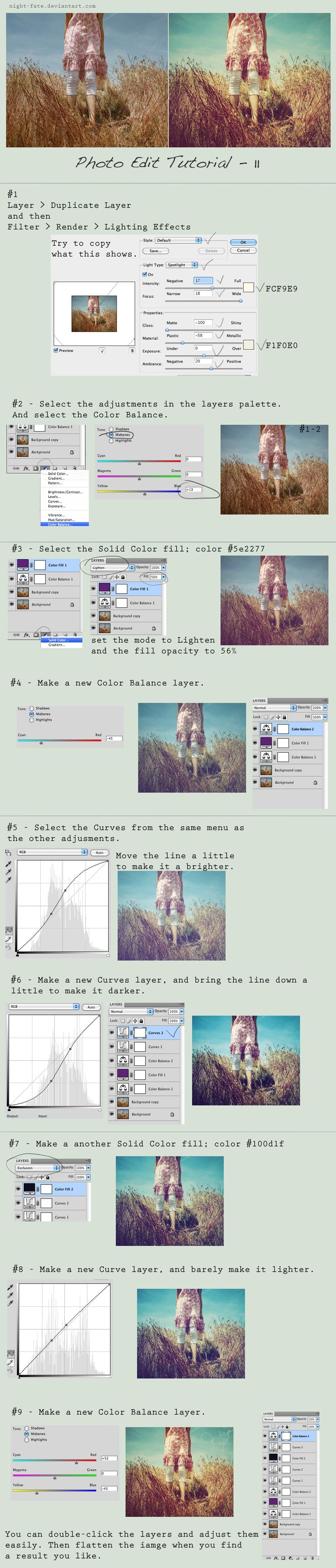 Photo Edit Tutorial