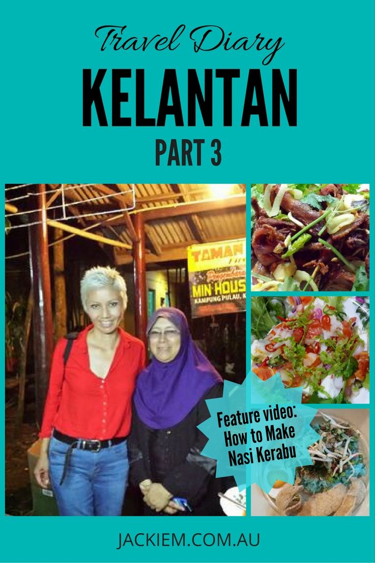 The 3rd installment of Jackie M's travel diary in Kelantan where they headed next to a rural retreat in Min House Camp... (more on jackiem.com.au)